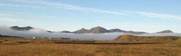 Fog bank over Adak, Sept 18, 2013.