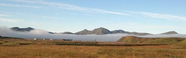 Fog bank over Adak, Sept 18, 2013.