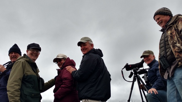 Happy curlew-watchers! Chris, Frank, Barb, Don, Paul, and Bill.