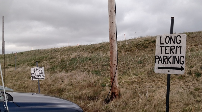 Up-to-date parking facilities at he Adak Airport!